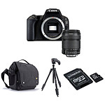 Canon EOS 200D + 18-135 IS STM + Carte microSD Kingston 8 GO + Caselogic FLXM 101 Antharcite + Manfrotto Compact Action Noir
