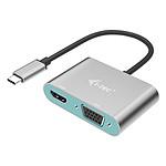 i-tec Adaptateur Metal USB-C vers HDMI et VGA