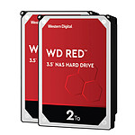 Western Digital WD Red - 2 To - 64 Mo - Pack de 2
