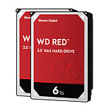 Western Digital WD Red - 6 To - 64 Mo - Pack de 2