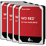 Western Digital WD Red - 6 To - 64 Mo - Pack de 4