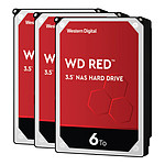 Western Digital WD Red - 6 To - 256 Mo - Pack de 3