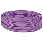 Câble Monobrin RJ45 catégorie 7 S/FTP Rouleau de 100 m (Violet) - Certifié RPC