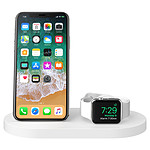 Belkin Station de charge sans fil à induction Boost Up pour iPhone et Apple Watch Qi 7,5 W (blanc)