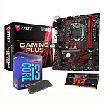 Intel Core i3 9100F + MSI B360M GAMING PLUS + 8 Go RAM + SSD