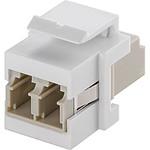Coupleur fibre optique LC Duplex pour boitier réseau type Keystone
