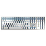Cherry KC 6000 Slim for Mac - Argent