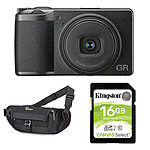 Ricoh GR III + Carte SD Kingston 16 GO + Lowepro m-Trekker HP 120 Noir
