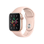 Apple Watch Series 5 Aluminium (Or - Bracelet Rose des Sables) - GPS - 40 mm