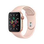 Apple Watch Series 5 Aluminium (Or- Bracelet Sport Rose des Sables) - Cellular - 44 mm