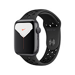 Apple Watch Nike Series 5 Aluminium (gris- Bracelet Sport Noir) - GPS - 44 mm