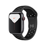 Apple Watch Nike Series 5 Aluminium (Gris - Bracelet Sport Noir) - Cellular - 44 mm