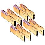 G.Skill Trident Z Royal Gold RGB 256 Go (8 x 32 Go) 3200 MHz DDR4 CL18