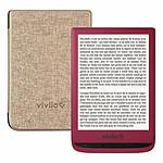 Vivlio Touch Lux 4 (rouge) + Vivlio Housse Chinée (dorée)