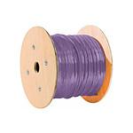 Câble Monobrin RJ45, Catégorie 6, F/UTP, Violet - 100 m