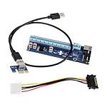 Kolink kit riser PCI-Express 1x vers 16x (Molex)