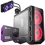Cooler Master MasterCase H500 + V550 Gold + MasterLiquid ML240L RGB