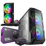 Cooler Master MasterCase H500M + V550 Gold + MasterLiquid ML240P Mirage