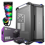 Cooler Master Cosmos C700P Black Edition + V850 Gold + MasterLiquid ML360R RGB