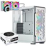 Corsair ICUE 220T RGB Airflow Blanc + RM750x v2 Blanche + H100i RGB Platinum SE