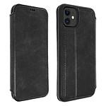 Akashi Etui folio cuir (noir) - Apple iPhone 11