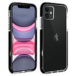Akashi Coque (transparent) avec bordures noires renforcées - Apple iPhone 11