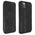 Akashi Etui folio cuir (noir) - Apple iPhone 11 Pro