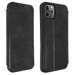 Akashi Etui folio cuir (noir) - Apple iPhone 11 Pro