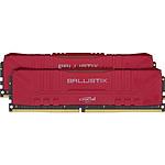 Ballistix Rouge - 2 x 8 Go (16 Go) - DDR4 2666 MHz - CL16