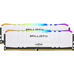 Ballistix Blanche RGB - 2 x 8 Go (16 Go) - DDR4 3600 MHz - CL16