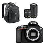 Nikon D3500 + AF-P DX 18-55 VR + AF-P DX 70-300 VR Noir + Cullmann Panama 200 Noir