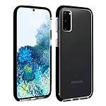 Akashi Coque (transparent) avec bordures noires renforcées - Samsung Galaxy S20+