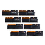 G.Skill Trident Z Noir / Orange - 8 x 8 Go (64 Go) - DDR4 3200 MHz - CL16