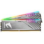 Gigabyte Aorus RGB Argent- 2 x 8 Go (16 Go) - DDR4 3200 MHz - CL16