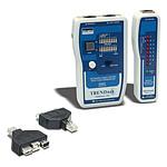 Testeur de câbles réseau avec adaptateur USB et FireWire