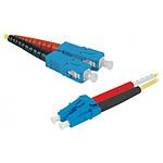 Jarretière optique duplex monomode 2mm OS2 SC-UPC/LC-UPC - 3 m
