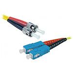 Jarretière optique duplex monomode 2mm OS2 ST-UPC/SC-UPC - 1 m
