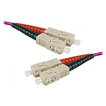 Jarretière optique duplex multimode 2mm OM4 SC-UPC/SC-UPC - 2 m