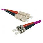 Jarretière optique duplex multimode 2mm OM4 ST-UPC/SC-UPC - 2 m