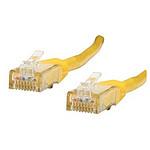 Cable RJ45 Cat 6 U/UTP (jaune) - 0,5 m