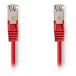 Cable RJ45 Cat 5e S/FTP (rouge) - 7,5 m