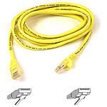 Cable RJ45 Cat 5e U/UTP (jaune) - 5 m