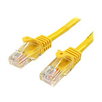 Cable RJ45 Cat 5e U/UTP (jaune) - 1 m