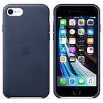 Apple Coque en cuir (Bleu Nuit) - iPhone SE (2020)