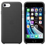 Apple Coque en cuir (Noir) - iPhone SE (2020)
