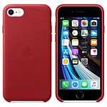 Apple Coque en cuir (Rouge) (Product) Red - iPhone SE (2020)