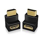 Adaptateurs HDMI 1.4 coudés à 90° (lot de 2)