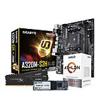 AMD A3000G - Gigabyte A320 - RAM 8Go 3200MHz - SSD 240Go