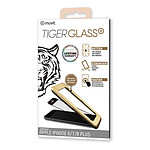 Tiger Glass Plus Verre Trempé Noir -  Apple iPhone 6 Plus/6s Plus/7 Plus/8 Plus