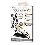 Tiger Glass Plus Verre Trempé Noir - Apple iPhone 6/6s/7/8